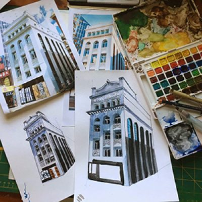 Drawing Hoddle Grid Heritage Buildings with Marloes ONLINE