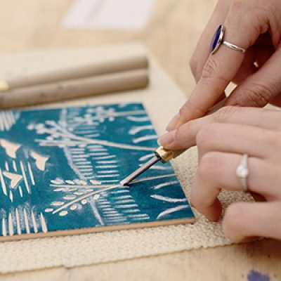 Intro to Woodblock Printmaking with Emilie
