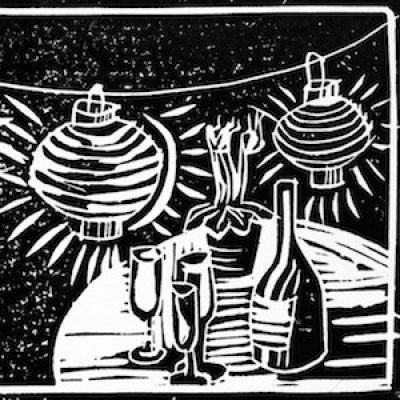 Linocut Christmas Cards with Emilie