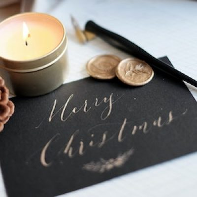 Watercolours: Xmas Brush Lettering with Emilie ONLINE