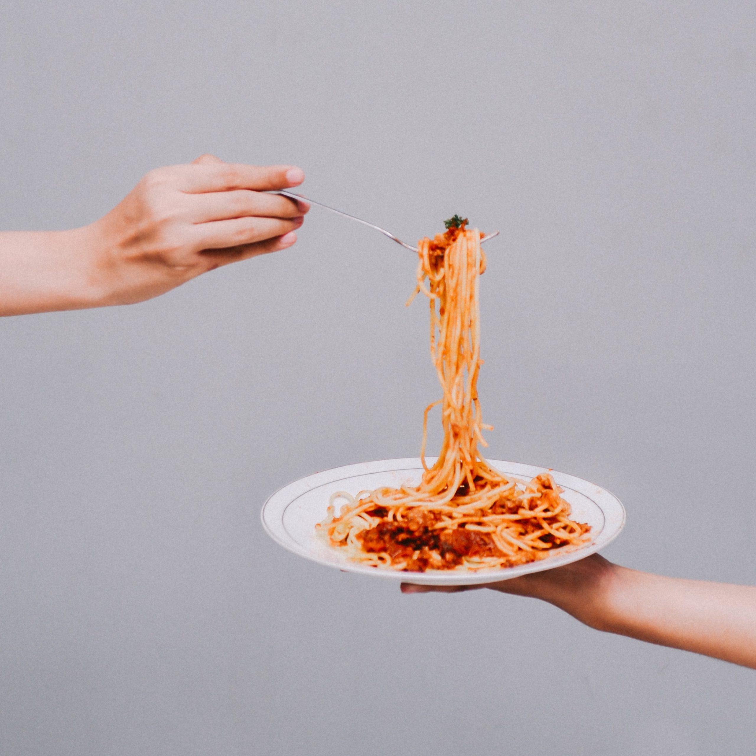 noodles in sauce